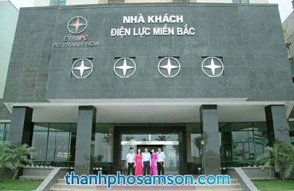 Mặt tiền khách sạn Điện Lực Sầm Sơn
