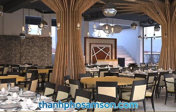 Phòng ăn tập thể rộng rãi