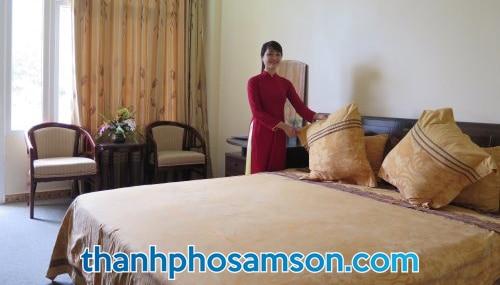 Phòng đơn tại khách sạn Hương Biển