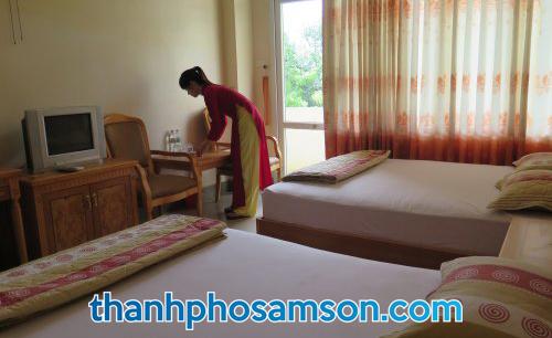 Bên trong phòng nghỉ khách sạn Hương Biển