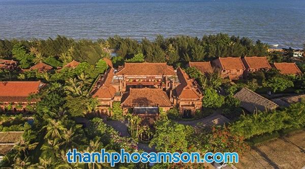 Toàn cảnh Vạn chài resort Sầm Sơn nhìn từ trên cao