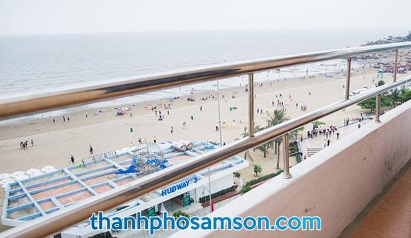 View biển từ ban công phòng nghỉ