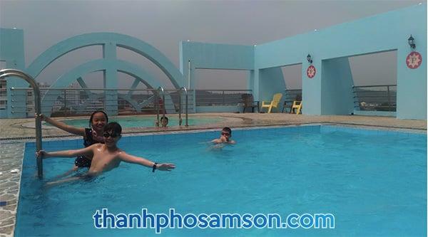 bể bơi nước ngọt tại khách sạn