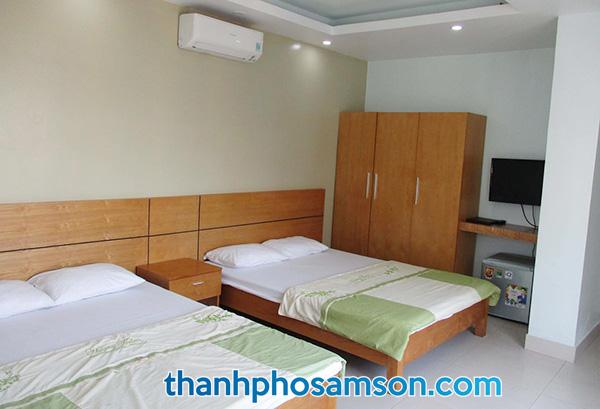 Phòng ngủ rộng rãi, thoải mái
